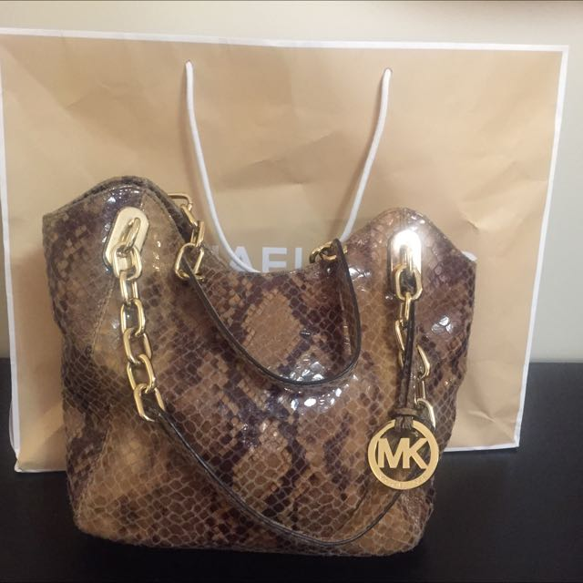 Authentic Micheal Kors Snake Print