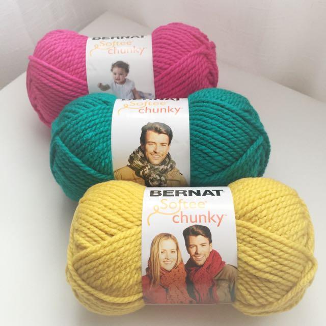 Bernat Softee Chunky Yarn - Brights