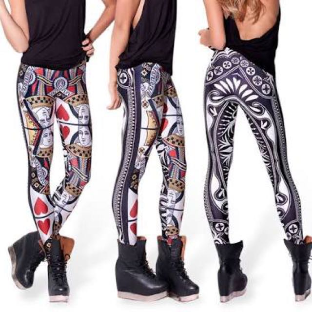 Black Milk Queen Of Hearts Leggings> Check Out My Other Items!