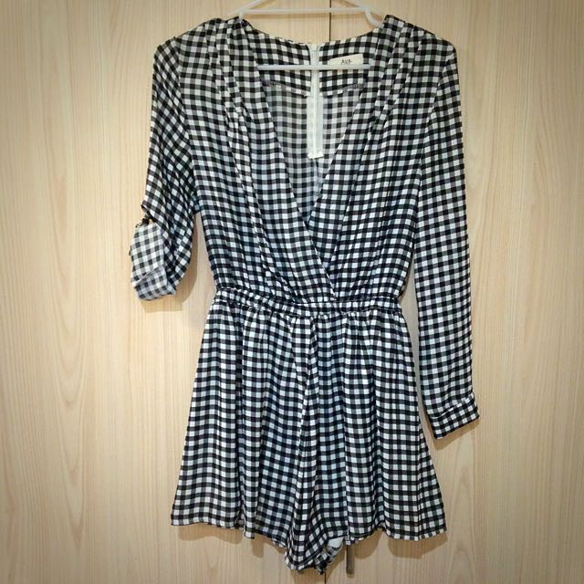Checkered Play suit