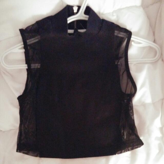 Cropped Top Xs Sheer Sides