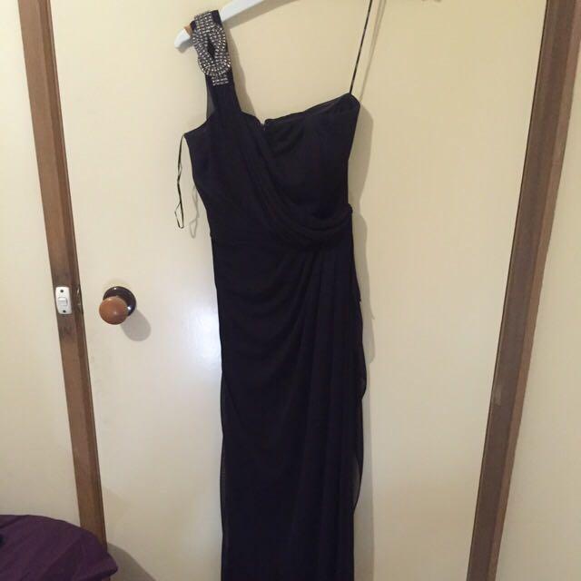 Dark Purple Full Length Dress