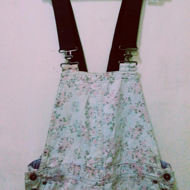 Forever 21 Premium Denim Jumper skirt
