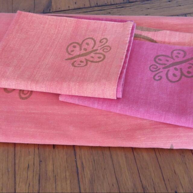 GORGEOUS Pink & Orange Quilt Cover SET