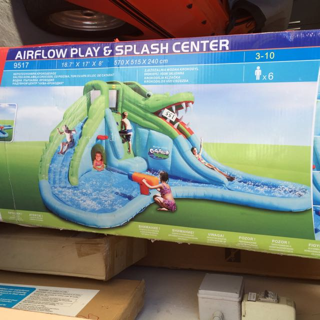 happy hop giant croc inflatable waterslide brand new toys games