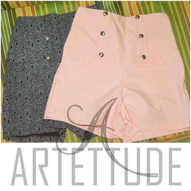 HIGH WAISTED Shorts (Detailed BLACK ONLY)