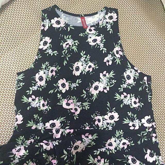 H&M花花洋裝