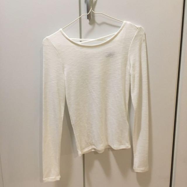 H&M 白上衣