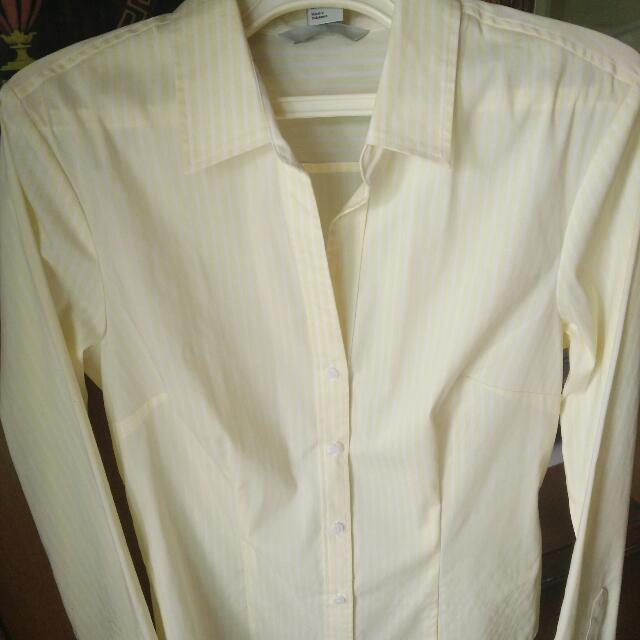 H&M Yellow Stripe Shirt