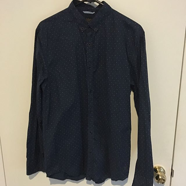 Industrie Navy Blue Medium size Long Sleeve Shirt