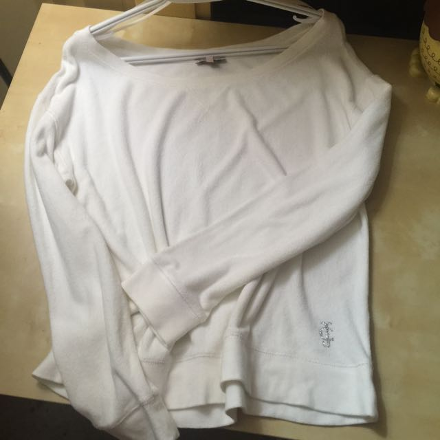 Juice Couture Plain White Towel Material