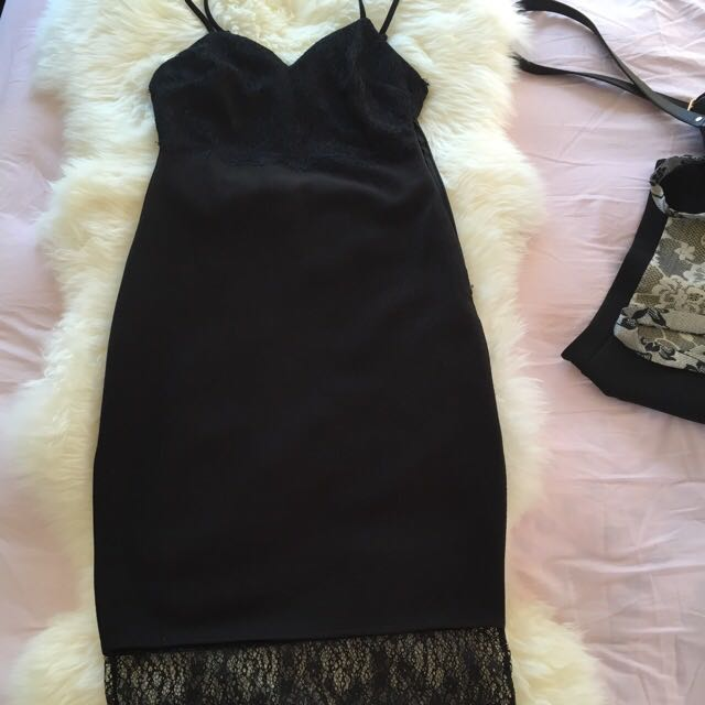 Lacey Black Classy Dress