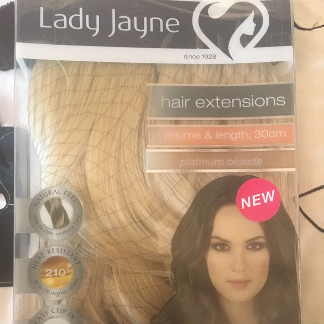 Lady Jane Platinum Blonde Hair Extensions