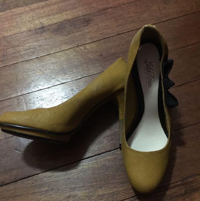 LelaRose Yellow Heels