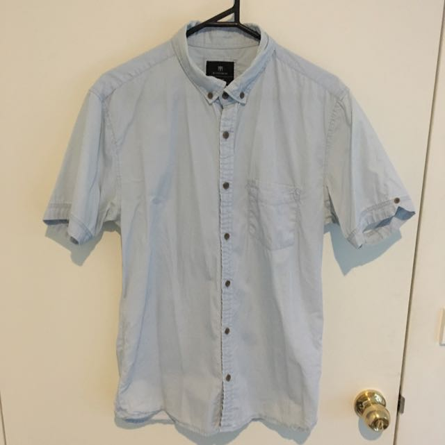 Light Blue Cotton On Short Sleeve Shirt