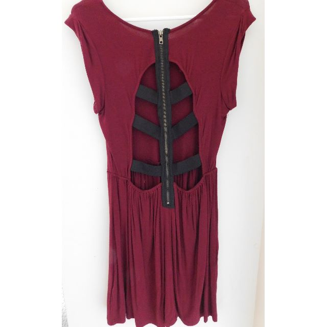 Maroon Skater Dress.