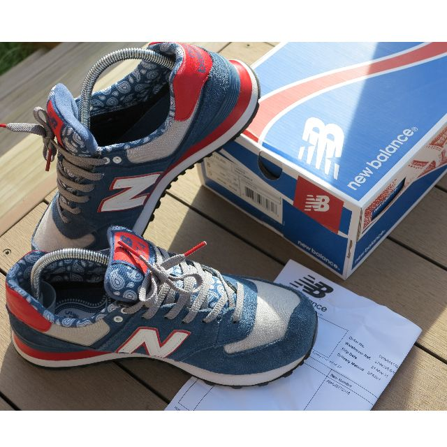 New Balance 574 Paisley Blue Sneakers