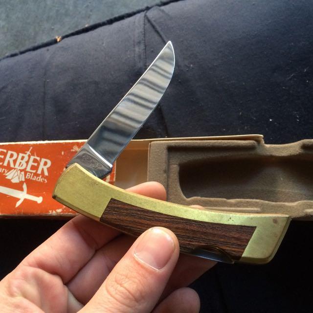 Old Gerber Knife In Box