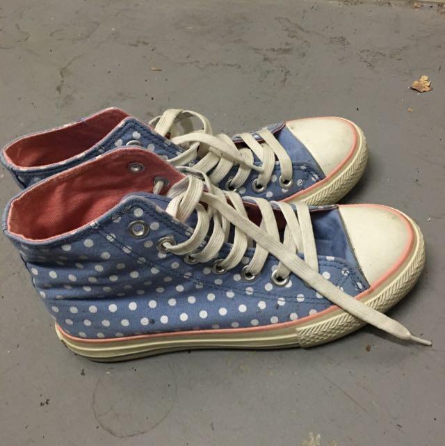 Pokka-dot Canvas Shoes