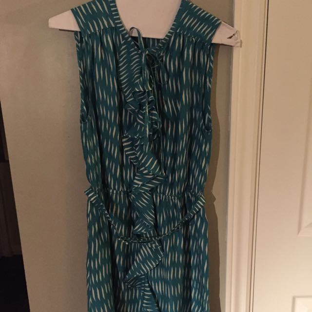Silk Print Belted Dress From Anthropologie