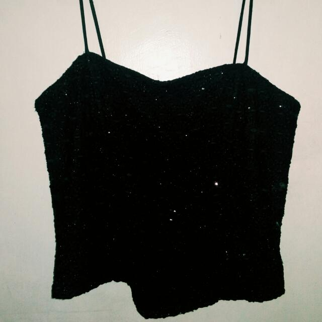 Sparkly Laced Black Bustier