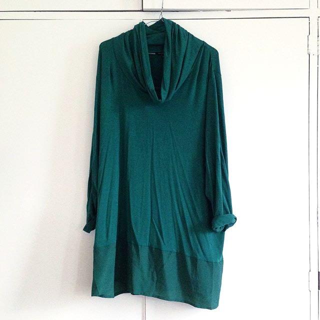 Turtleneck Smock Dress