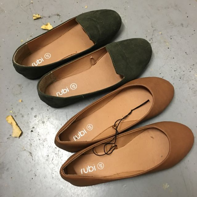 Two Pairs Of Rubi Flats