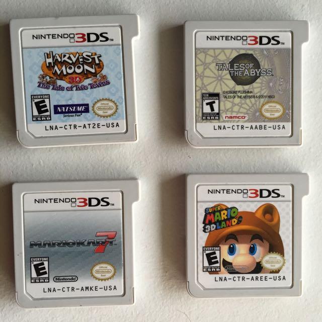 USA REGION 3 DS GAMES