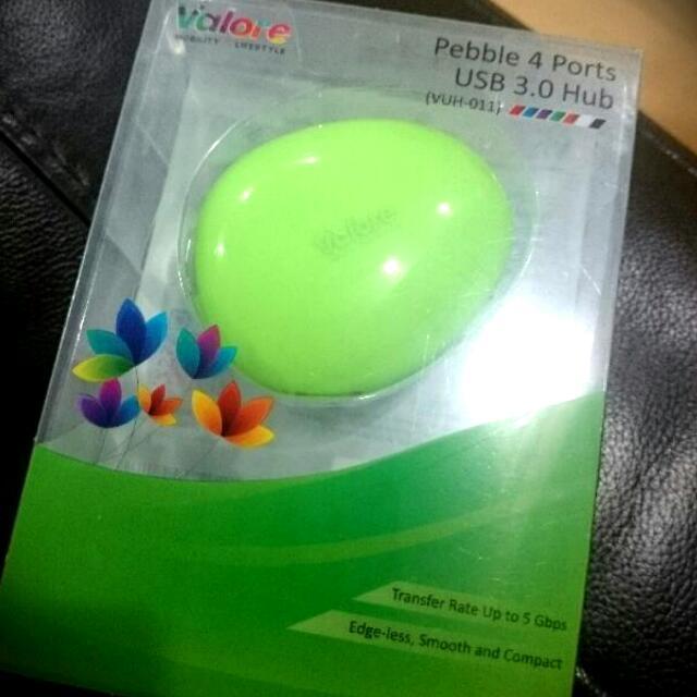 Valore Pebble 4 USB 3.0 Hub (Green)