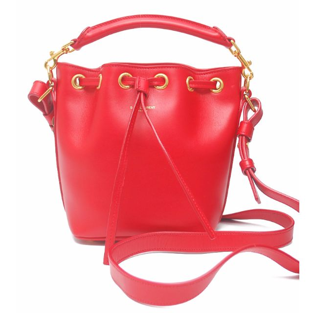 29e9ef6bff Yves Saint Laurent Emmanuelle Mini Bucket GHW - Red