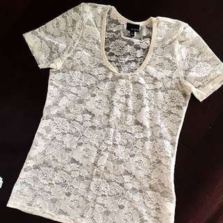 Aritzia Dilemma Lace Top