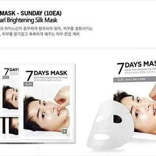 7 Days Masks Song Joongki  1 PC/ 1 Mask