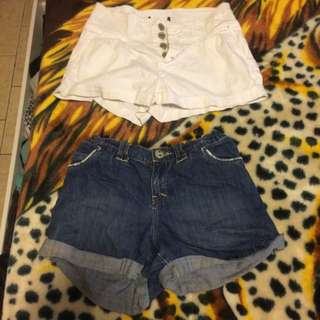 High-waisted Short Shorts 2 For 15 Or 10 Each