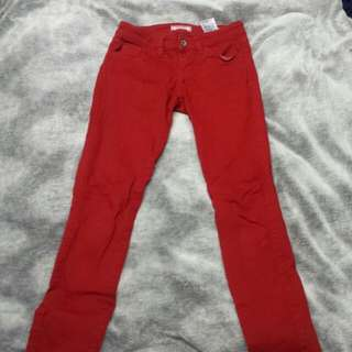 Red Guess Britteny Skinny Jeans Size 25