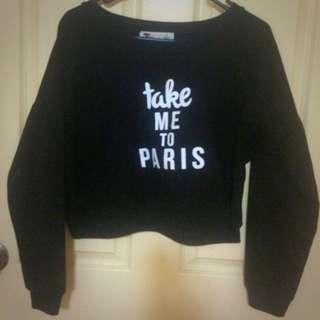 Black Shirt Take Me To Paris