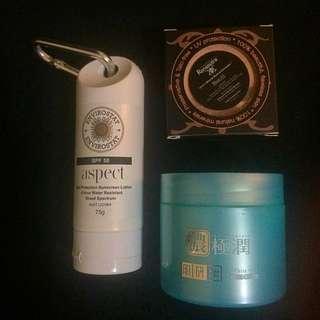 Sunblock, Whitening Cream, Mineral Powder Concealer