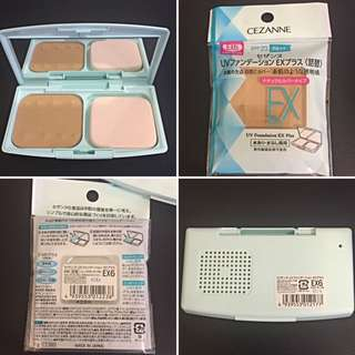 Cezanne UV Foundation EX Plus SPF 23 With Free Refill