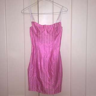 American Apparel Shiny Underwire Bustier Dress