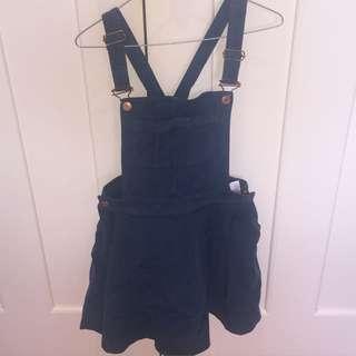 TOPSHOP MOTO TEAL Cord Pini Dress