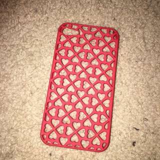 Red Love Heart iPhone 5 Case