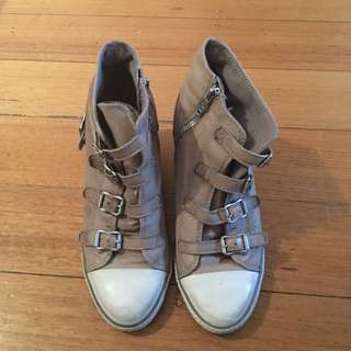 Ash Sand leather sneakers