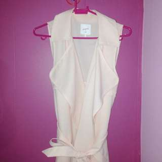 Drape Coat Light Pink Colour