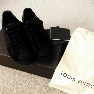 Louis Vuitton: Vibes Sneaker In Petit Damier Fabric and Suede Calf