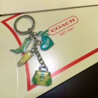 Coach 鑰匙圈(Tiffany湖水綠)送紙盒!