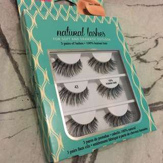 3 Pairs Of 100% Human Hair Lashes