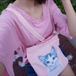 可愛貓咪帆布袋