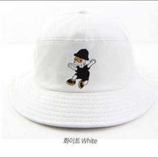 辛普森皮革漁夫帽(黑白兩色)