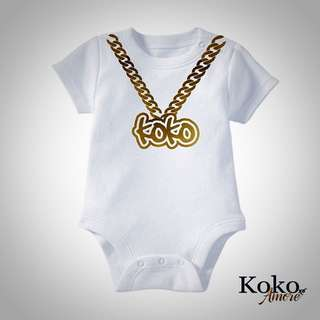 Personalised GOLD CHAIN Romper