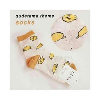Gudetama Yellow-orange Socks