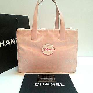 50de68cfa4c9c7 Authentic Chanel Travel Line Shopping Tote Bag Pink {{ Only For Sale }} *